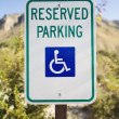 Stock Photo: Reserved Parking Sign For Handicapped