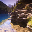 Stock Photo: Mountain Lake Shoreline