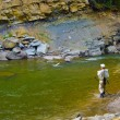Stock Photo: Fly Fishing In River