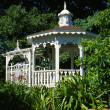 gazebo no parque — Foto Stock
