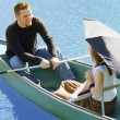 Stock Photo: Romantic Canoe