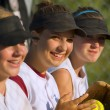 Female Baseball Players — Stock Photo