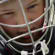 Stock Photo: Boy Wearing Goalie Mask