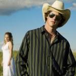 Man Wearing Cowboy Hat — Stock Photo #31716611