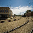 Stock Photo: Train Tracks Through Town