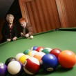 Stock Photo: Seniors Playing Pool