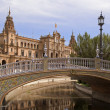 Foto Stock: PlazDe España, Seville, Spain