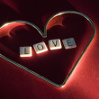 Stock Photo: Love Spelled Inside Heart