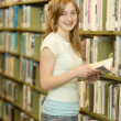 Student In The Library — Stock Photo