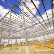 Stock Photo: Wide Angle Building Frame Under Construction