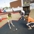 Children Playing Mini Golf — Stock Photo