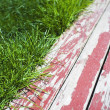Stock Photo: Grass And Painted Boards