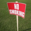 No Smoking Sign Outside — Stock Photo