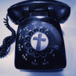 Stock Photo: Rotary Phone With Cross