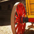 Stock Photo: Red Wagon Wheel