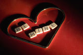 Be Mine Spelled Inside Heart — Stock Photo
