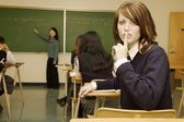 Student Asking For Silence — Stock Photo