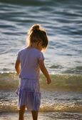 Girl Wading In The Water — Stock Photo
