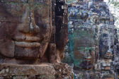 Stone Heads At Bayon Temple — Photo