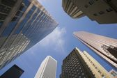 Upwards View Of Downtown Buildings — Stock Photo
