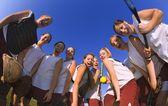 Бейсбольная команда девочек — Стоковое фото