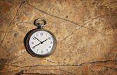 Pocket Watch On Textured Background — Stock Photo