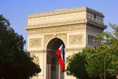 Arch De Triumph On The Champs Elysees — 图库照片