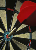 Dart On Dartboard — Stock Photo