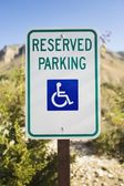 Reserved Parking Sign For Handicapped — Stock Photo