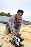 Inuit Construction Worker — Stock Photo