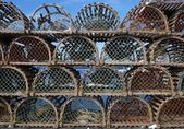 Stack Of Lobster Traps — Stock Photo