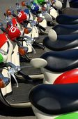 Scooters In A Row — Stock Photo