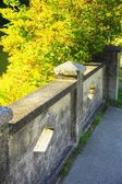 Concrete Fence And Patio — Stock Photo