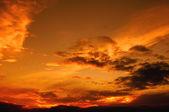 Orange Hue Sky — Stock Photo