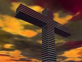 Cross With Abstract Design — Stock Photo