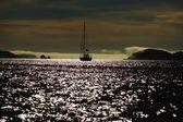Sailboat On Water At Dusk — Stock Photo
