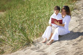 Mother And Son Reading Bible — Stock Photo