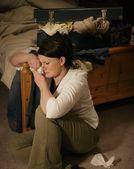 Jovem menina chorando — Foto Stock