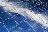 Chain Linked Fence Against Blue Sky — Stock Photo