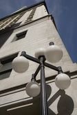 Street Lamp And Building — Stock Photo