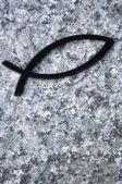 Fish Symbol Of Christianity — Stock Photo