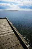 Pier Overlooking Lake — Stock Photo