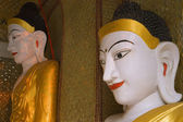Statues Of Buddhas, Shwedagon Pagoda, Rangoon, Myanmar — Photo