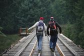Hikers In British Columbia — Stock Photo