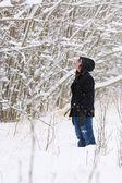 Admiring The Snow — Foto Stock