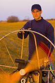 Powered Paraglider Engine — Stock Photo