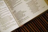 Open Book Of Psalms — Stock Photo