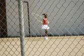 Girl Skipping — Stock Photo