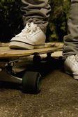 Feet On Skateboard — Stock Photo
