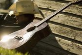 Cowboy And His Guitar — Foto Stock